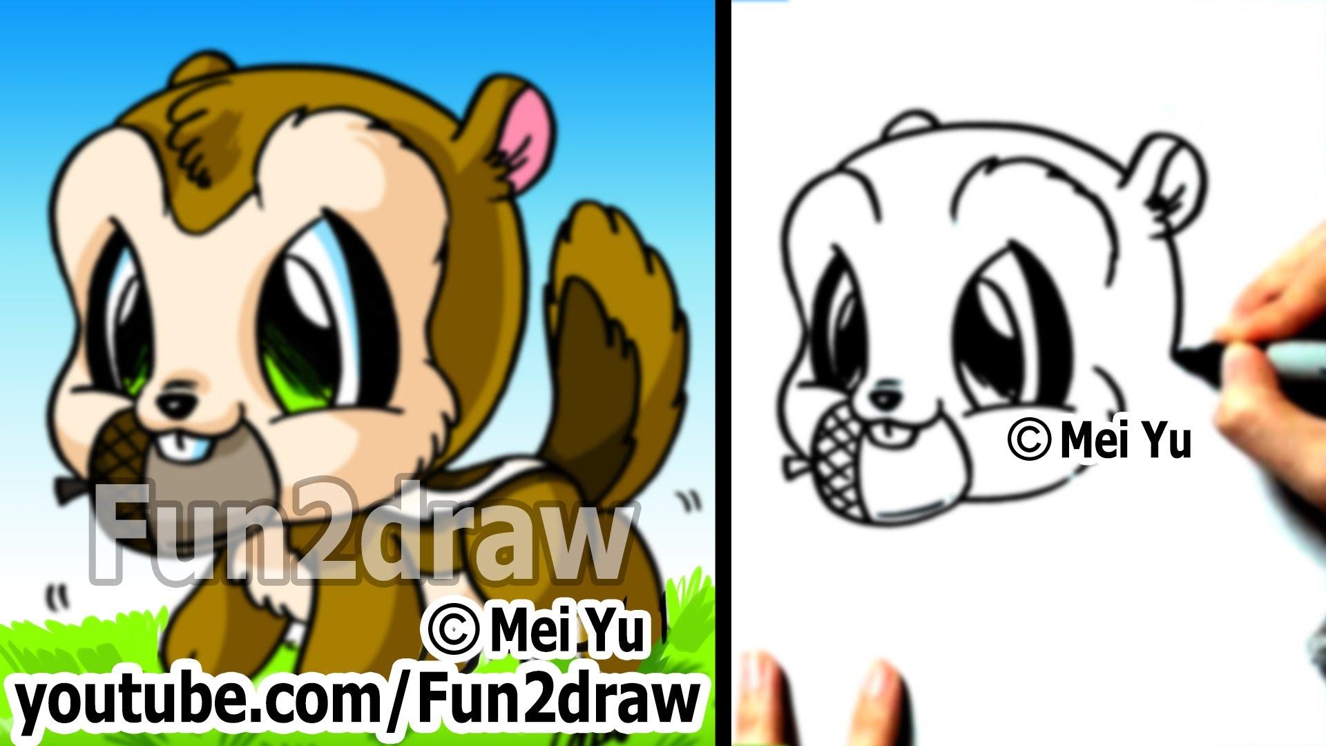 Drawn squirrel hand drawn Chipmunk Fun2draw Chipmunk How Step