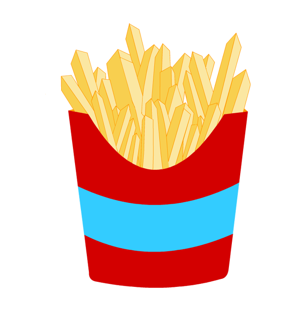 French Fries clipart crinkle cut Clip thanksgiving fries art french