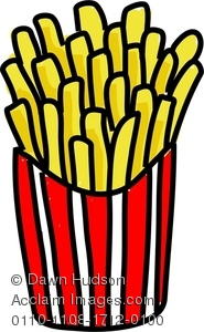 French Fries clipart crinkle cut Fries chips stock potato and