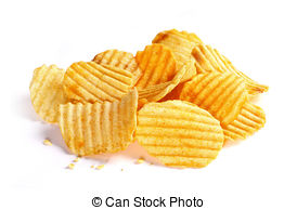 Potato Chips clipart wafer Isolated Stock Can chips white
