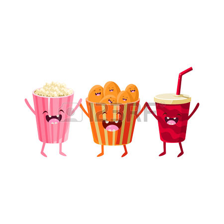 Popcorn clipart chip Popcorn Coke collection Stock Chips