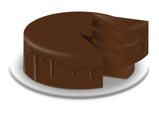 Pastry clipart piece chocolate cake Clipart Chocolate Cake kid Chocolate