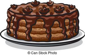 Chocolate Cake clipart Chocolate  cake chocolate Vector