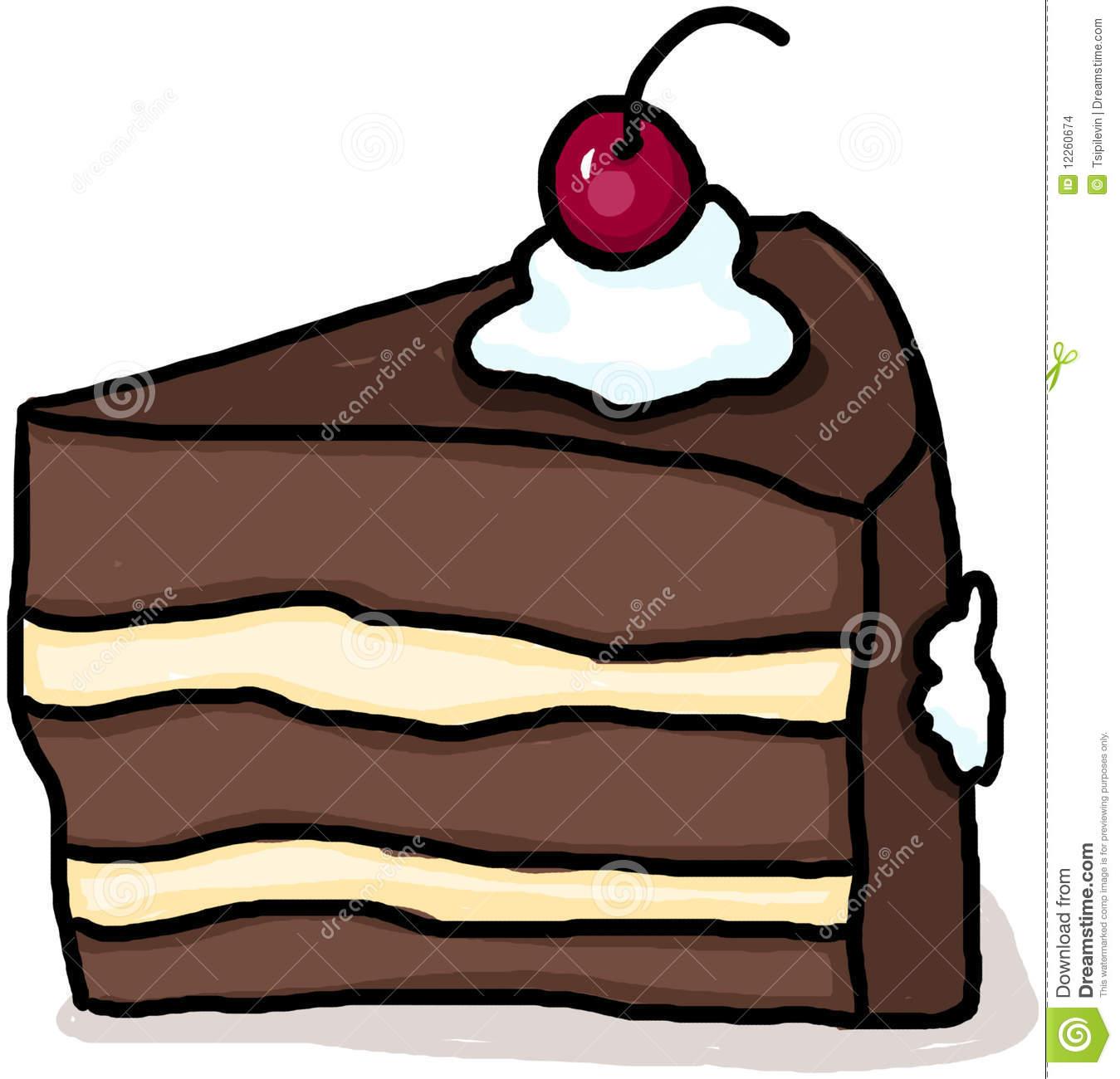 Drawn cake cherry Clipart Free Panda Clipart Chocolate