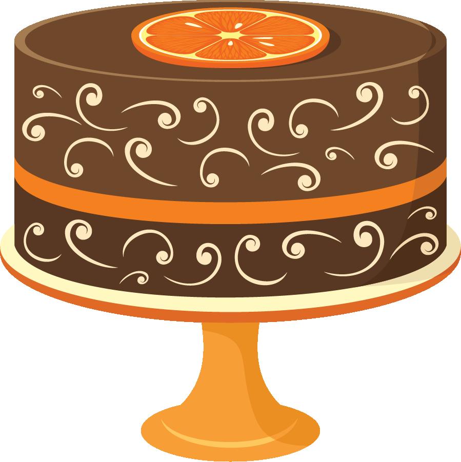 Birthday clipart orange Art 2 birthday image clipartcow
