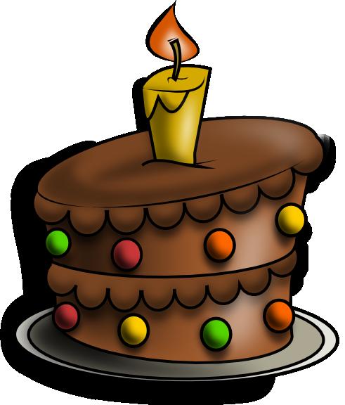 Brown clipart birthday cake Art  Chocolate Cake Gallery