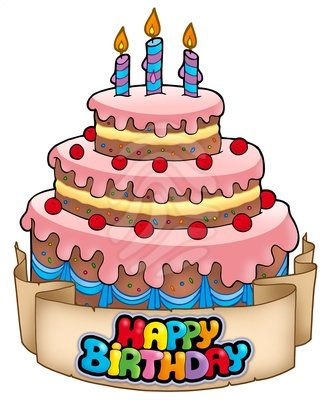 Birthday clipart birthday cake Free pink clipart with cake
