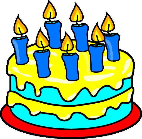 Simple clipart birthday cake #12