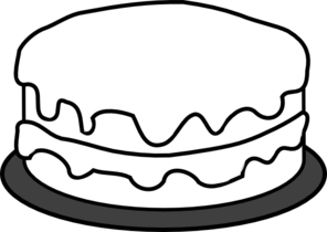 Black & White clipart cake Slice And White  Clipart