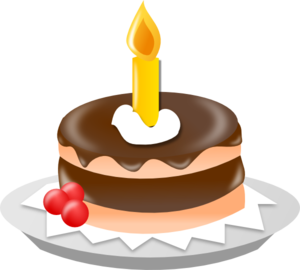 Candle clipart cake candle Art Cake  Chocolate With