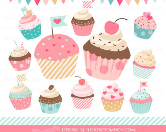 Muffin clipart colorful cupcake Art Shapes Clipart Dessert Colorful