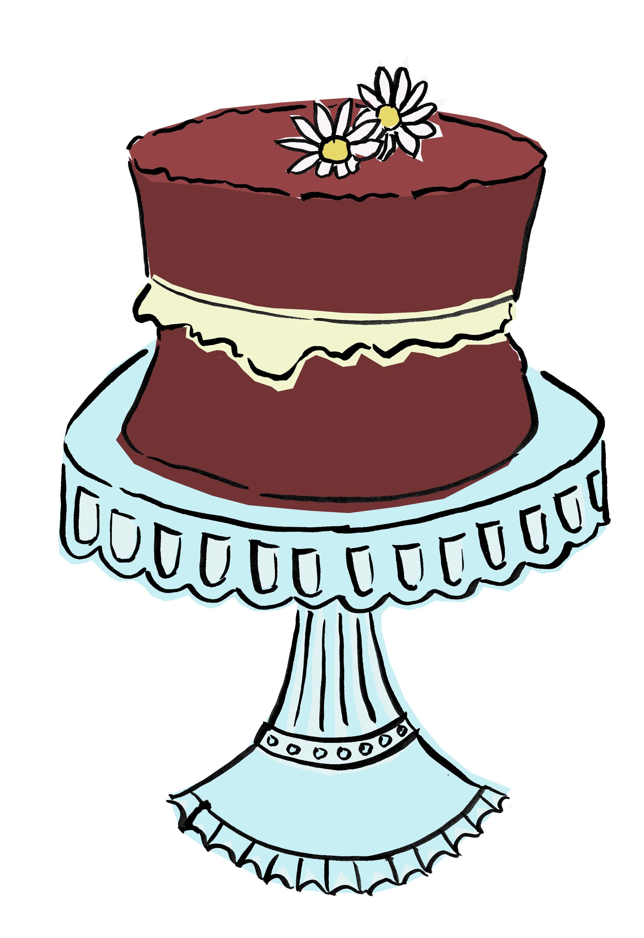 Drawn chocolate vintage cake #15