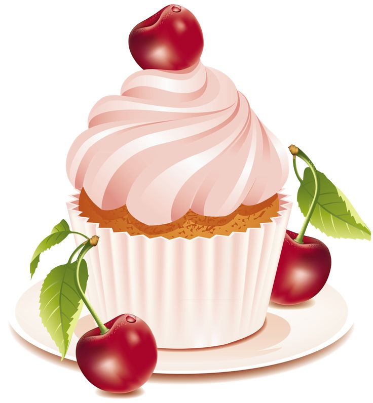 Pastry clipart cherry cupcake Clipart CUPCAKE on Cake GRAPHIC