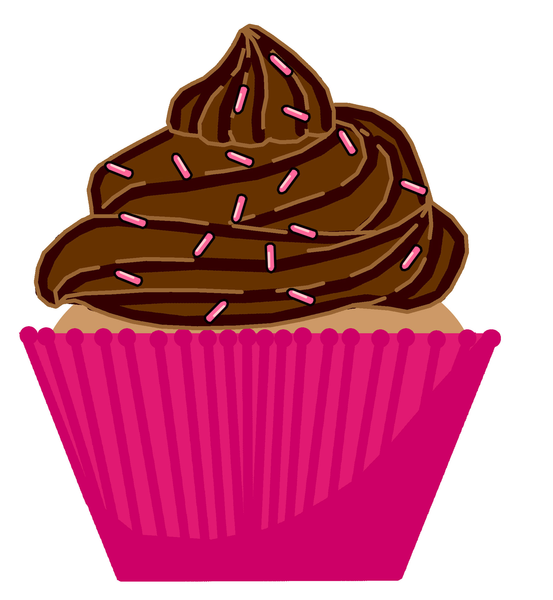 Muffin clipart chocolate cupcake Images Free Clipart Free Clipart
