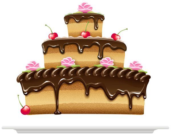 Brown clipart birthday cake Birthday Verjaardag Clipart best Cake