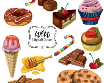 Lollipop clipart sweet chocolate Art Cream Popsicle Ice Etsy