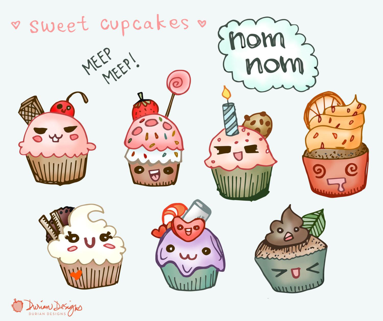 Muffin clipart kawaii Clip art Sold dessert Cute
