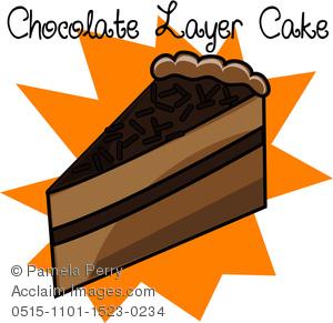 Chocolate clipart piece chocolate cake Piece Cake a Piece Art