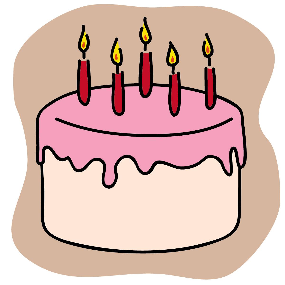 Simple clipart birthday cake #5