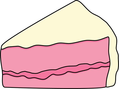Pice clipart cake Of Clip Cake Cake Pink