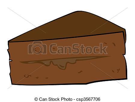 Chocolate clipart piece chocolate cake  csp3567706 Clip Cake slice