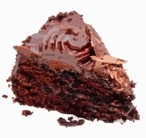 Chocolate clipart piece chocolate cake Art Art Chocolate Clker Clip