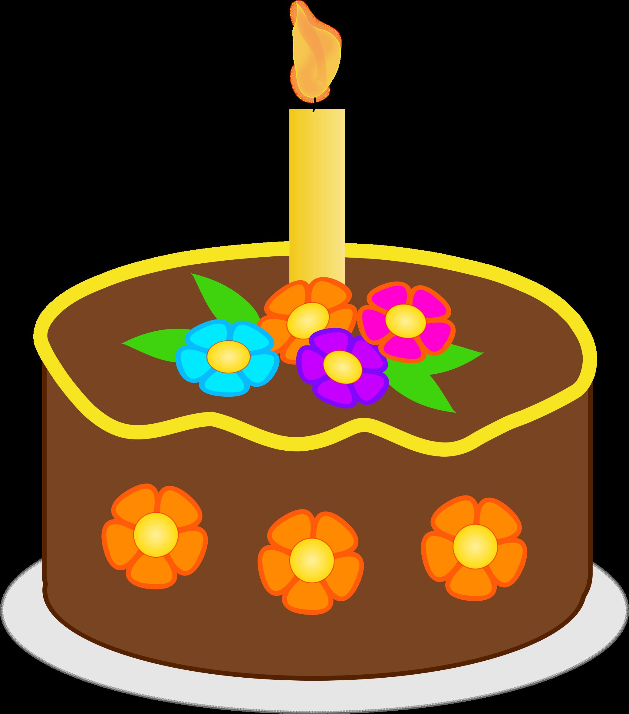 Brown clipart birthday cake Birthday Chocolate Clipart Chocolate Birthday