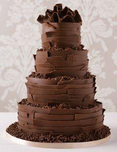 Drawn wedding cake chocolate cake #13