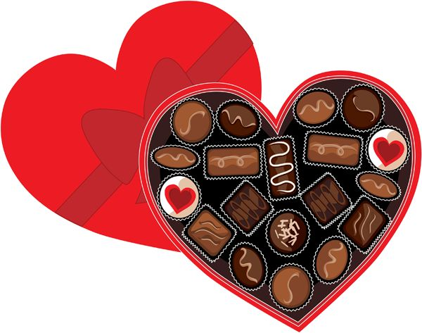 Box clipart valentine's day Best Pinterest Chocolate Chocolate Of