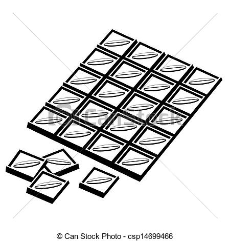 Chocolate clipart black and white Bar csp14699466 Chocolate bar