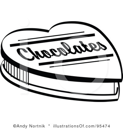 Chocolate clipart black and white White Images Art Black Clip