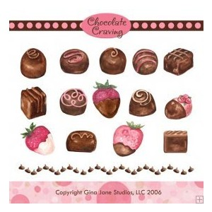 Chocolate clipart chocolate truffle Graphics  & Graphics Backgrounds