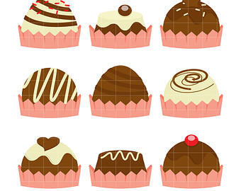 Chocolate clipart chocolate truffle Truffles for Card Chocolate Etsy