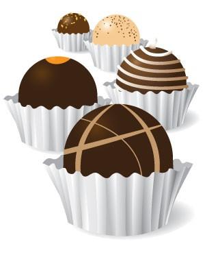 Chocolate clipart chocolate truffle  Chocolate Food clipart Chocolate