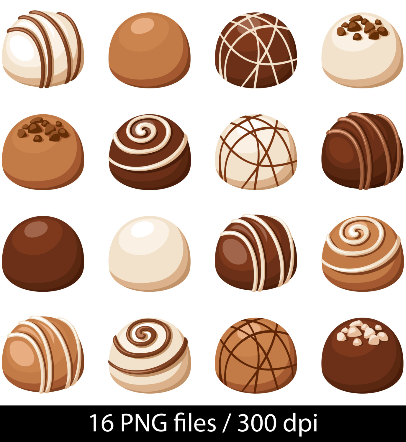 Chocolate clipart chocolate truffle Instant Chocolate Digital Digital Chocolate