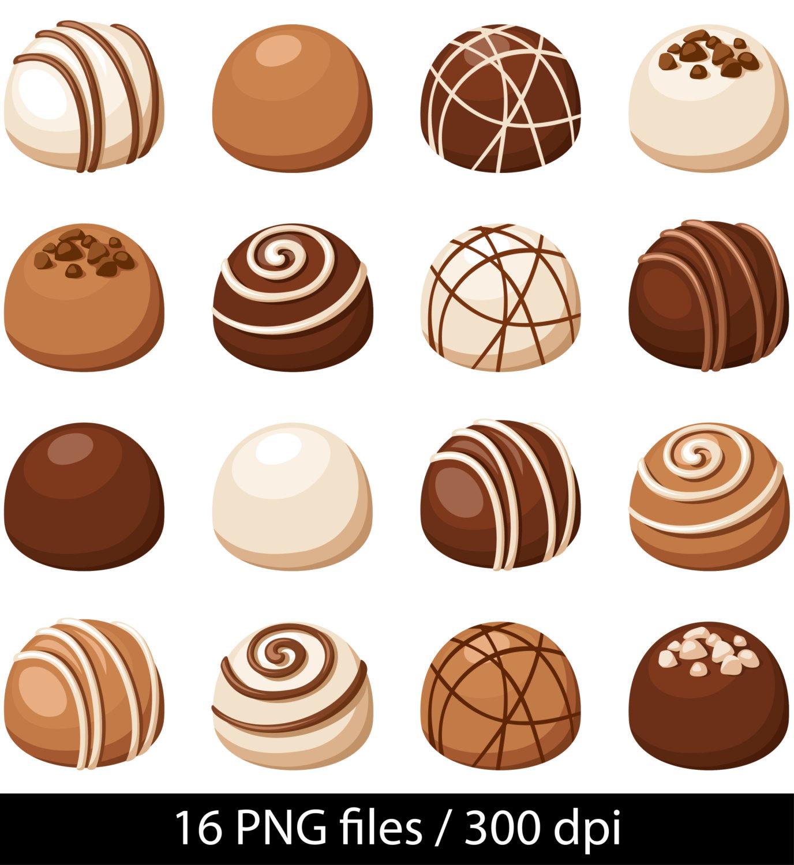 Chocolate clipart chocolate truffle Chocolate Chocolate Digital  Chocolate