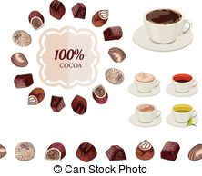 Chocolate clipart round object Candies Vectors cups  of