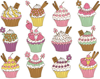 Chocolate clipart strawberry cupcake Cupcake digital OFF digital cupcake