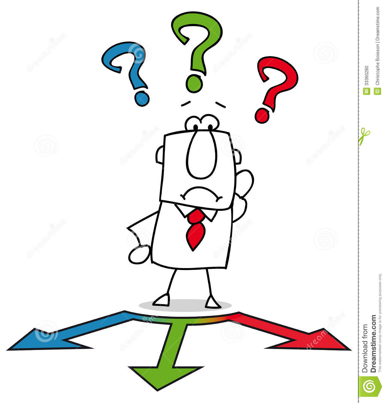 Choice clipart confused look A Clipart Can  Clipart