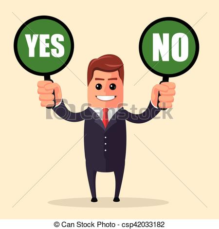 Choice clipart confused man Mark business concept illustration business