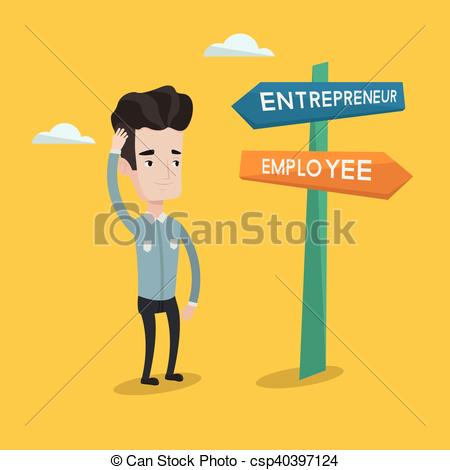 Choice clipart confused man Career csp40397124 Confused pathway man