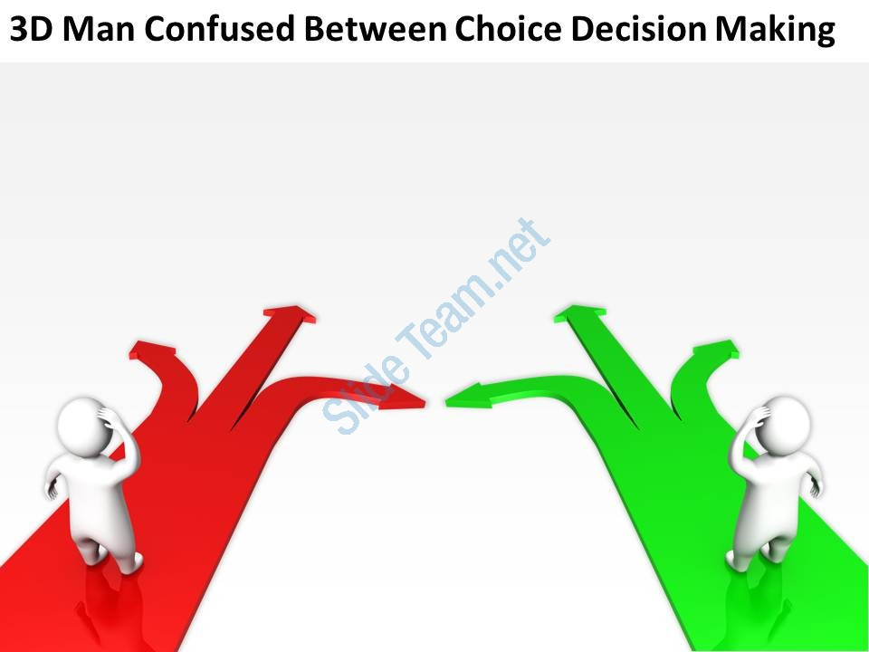 Choice clipart confused man  between ppt confused 3d_man_confused_between_choice_decision_making_ppt_graphics_icons_Slide02