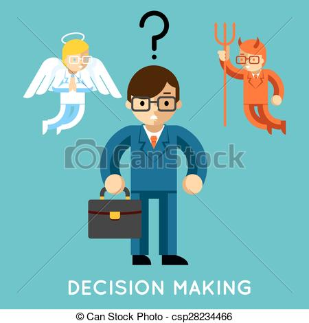 Choice clipart decision making Angel Clip Businessman and Vector
