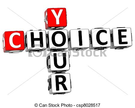 Choice clipart determined Your 3D white  Choice