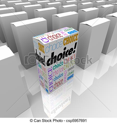 Choice clipart different Is Many One Boxes of