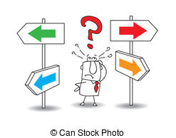 Choice clipart direction Follow way 2 royalty free