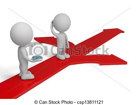 Choice clipart direction Background image person red arrows