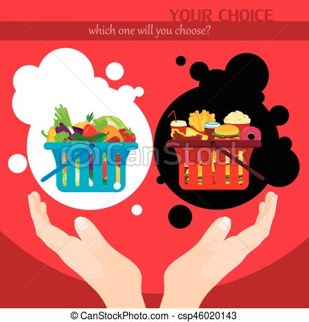 Choice clipart food choice  csp46020143 Junk food poster