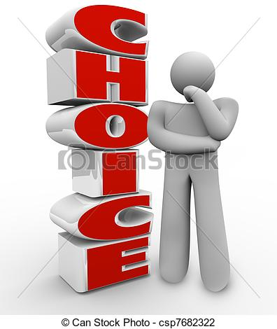 Choice clipart option Wondering word trying beside which