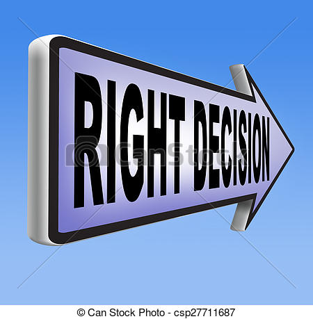 Choice clipart right decision Decision Stock decision or or
